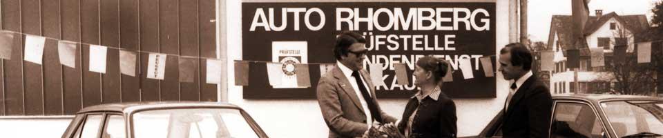 Auto Rhomberg Geschichte