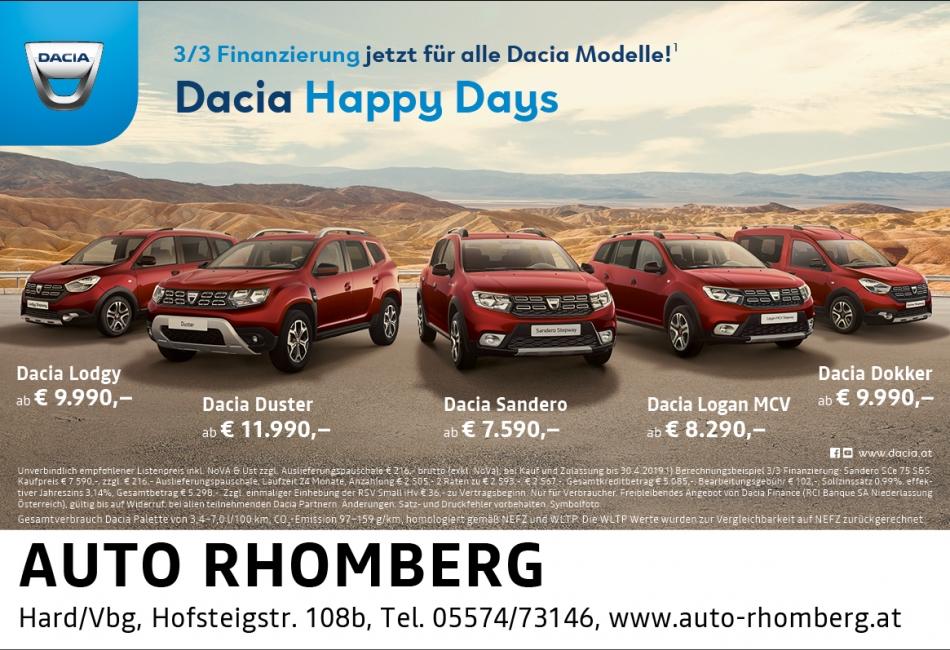 Dacia Duster Sandero Logan MCV Dokker Lodgy